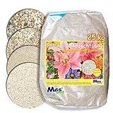 MGS SHOP 25kg Pflanzsand kalkfreier, keimfreier & nährstoffreier Quarzsand zur Anzucht und Pflanzen - Pflege (1-2 mm)