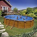 Unbekannt Gre kit500W–Pool oval 4seitenverstärkungen Dekoration Holz Maße: 500x 300H 120