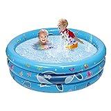 balnore Planschbecken, 3 Ringen Planschbecken für Kinder 120 x 45 x 18cm Kinderpool Schwimmbad Kinder für Garten Outdoor