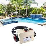 SEAAN Poolheizung Elektrisch Thermostat, elektrischer Warmwasserbereiter Thermostat 220V 3KW, Schwimmbadthermostat SPA-Bad, tragbarer Poolheizkörper, Thermostatheizungspumpe