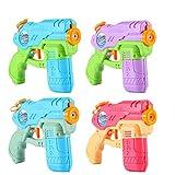 Wasserpistole Klein,TekHome 4 Pack Wasserspritzpistole,Wasserpistole Kinder Pool Wasserspielzeug,Sommer Spielzeug für Mädchen Junge, Wasserspiele für Garten und Strand Party Blaster Badestrand.