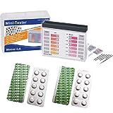 harren24 Pooltester Testkit für pH-Wert/freies Chlor/Brom inkl. 40 Testtabletten (Rapid) in Aufbewahrungsbox